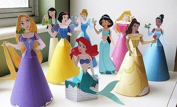 принцессы, игры из бумаги, Диснеевские принцессы